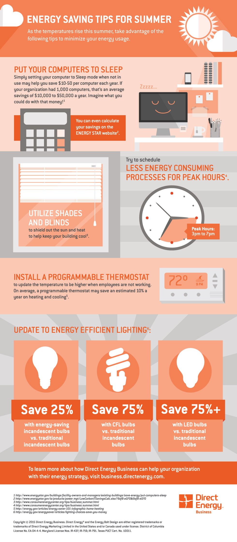 Energy Saving Tips For Summer energy savings tips for summer | direct energy business