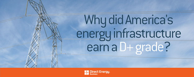 Why did America's energy infrastructure earn a D+ grade?