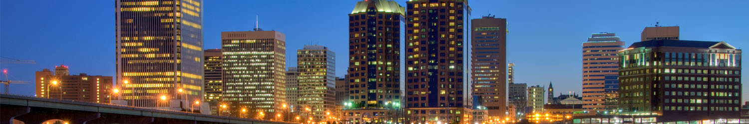 Richmond, Virginia, skyline at night