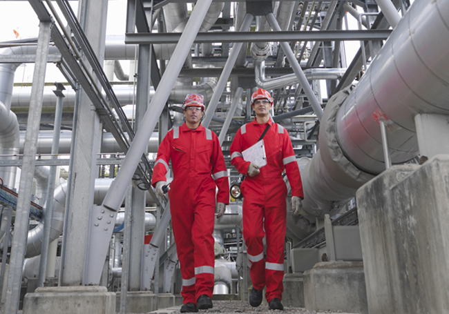 engineers in energy facility